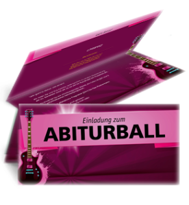 einladungskarte-abiball-gitarre-pink-falz-oben