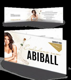 ... Einladungskarte Abiball Legendary Nights Gold Falz Seite ...