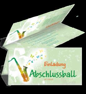 einladungskarte-abiball-saxophon-gruen-falz-oben