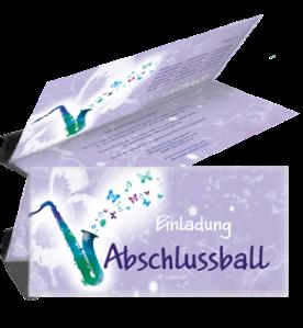 einladungskarte-abiball-saxophon-violett-falz-oben