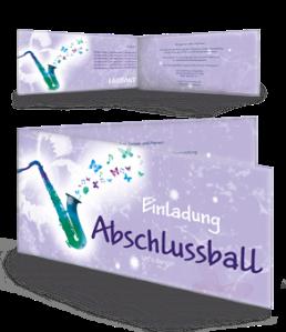 einladungskarte-abiball-saxophon-violett-falz-seite