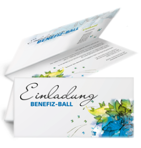 Einladungskarte Ball Butterfly Falz Oben Blau