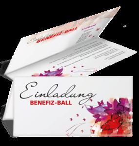 Einladungskarte Ball Butterfly Falz Oben Rot