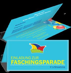 Einladungskarte Fasching