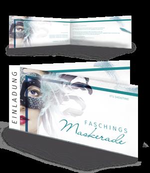 einladungskarte-fasching-maskerade-tuerkis-falz-seite