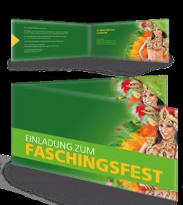 einladungskarte-fasching-samba-gruen-falz-seite