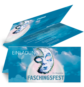 einladungskarte-fasching-venezianische-maske-blau-falz-oben