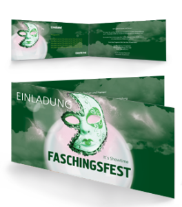 einladungskarte-fasching-venezianische-maske-gruen-falz-seite