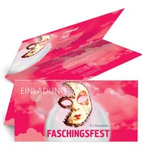 einladungskarte-fasching-venezianische-maske-pink-falz-oben