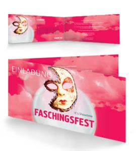 einladungskarte-fasching-venezianische-maske-pink-falz-seite