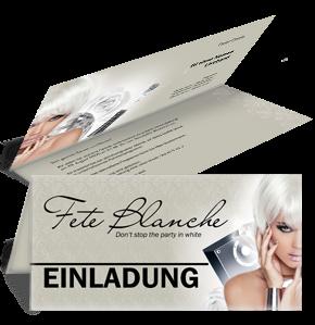 Einladungskarte Fete Blanche