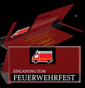 einladungskarte-feuerwehrfest-auto-braun-falz-oben