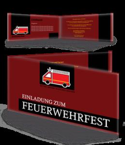 einladungskarte-feuerwehrfest-auto-braun-falz-seite