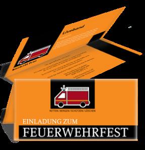 einladungskarte-feuerwehrfest-auto-orange-falz-oben