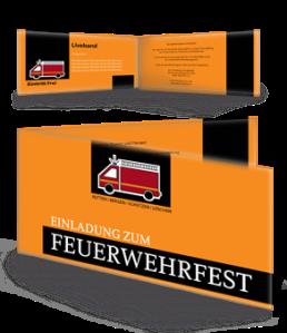 einladungskarte-feuerwehrfest-auto-orange-falz-seite