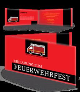 einladungskarte-feuerwehrfest-auto-rot-falz-seite