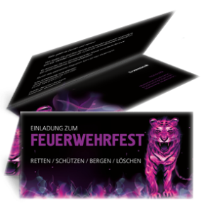 einladungskarte-feuerwehrfest-creative-tiger-violett-falz-oben