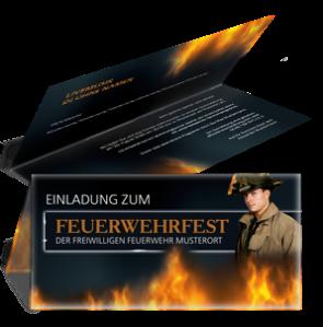 einladungskarte-feuerwehrfest-fire-department-braun-falz-oben