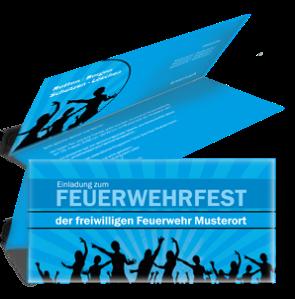 einladungskarte-feuerwehrfest-jugendstil-blau-falz-oben