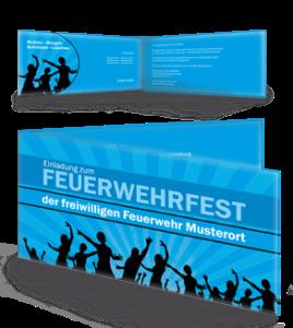einladungskarte-feuerwehrfest-jugendstil-blau-falz-seite
