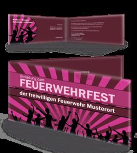 einladungskarte-feuerwehrfest-jugendstil-lila-falz-seite