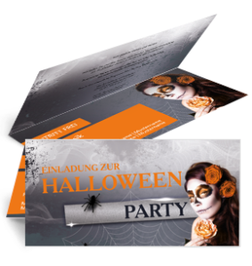 Einladungskarte Halloween La Cathrina