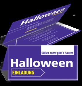 Einladungskarte Halloween Simple Violett Falz Oben
