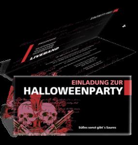 Einladungskarte Halloween The Reaper Falz Oben Violett