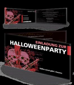Einladungskarte Halloween The Reaper Falz Seite Violett