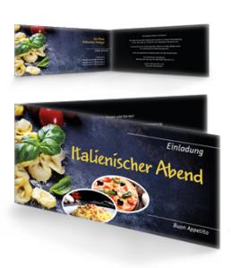 einladungskarte-italienischer-abend-buon-appetito-gelb-falz-seite