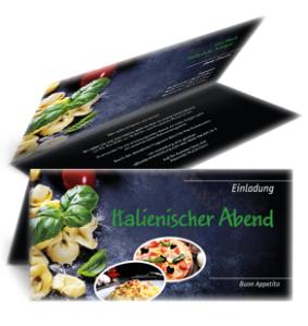 einladungskarte-italienischer-abend-buon-appetito-gruen-falz-oben