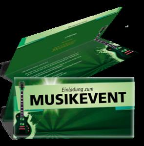 einladungskarte-musikfest-gitarre-gruen-falz-oben