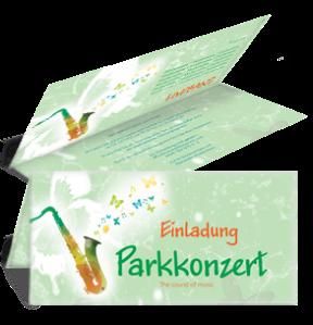 einladungskarte-musikfest-saxophon-gruen-falz-oben