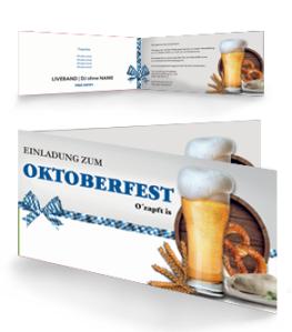 Einladungskarte Oktoberfest Craft Beer Weiss Falz Seite