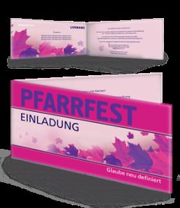 einladungskarte-pfarrfest-erntedank-violett-falz-seite