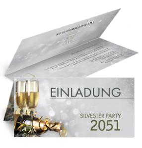 einladungskarte-silvester-goldrausch-falz-oben-silber