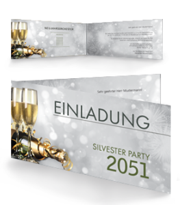 einladungskarte-silvester-goldrausch-falz-seite-silber