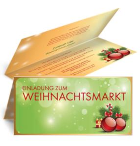 einladungskarte-weihnachten-weihnachtskugeln-falz-oben-gruen
