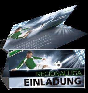 Einladungskarte Sportevent